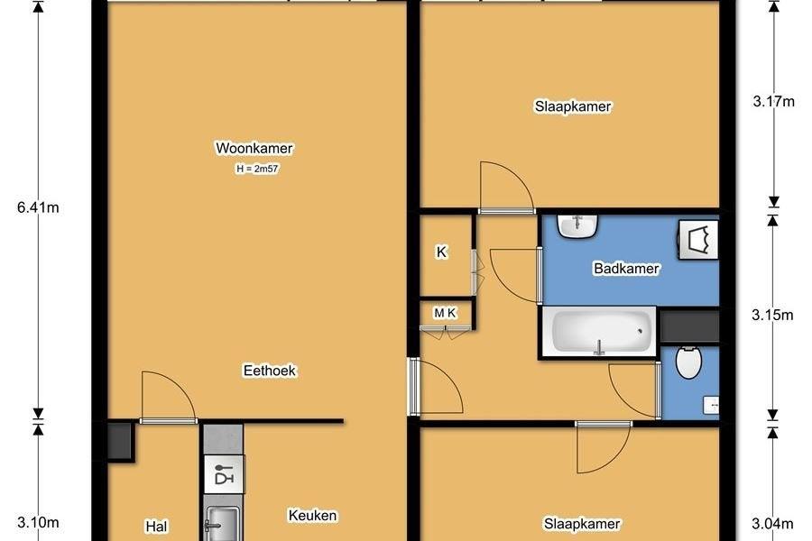 2 Persoonsbed 210.Hestia Housing Holland Blekerstraat